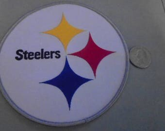 A  Pittsburgh Steelers 5 inch embroidered patches Great sizes  for chest or back old stock glue or sew in