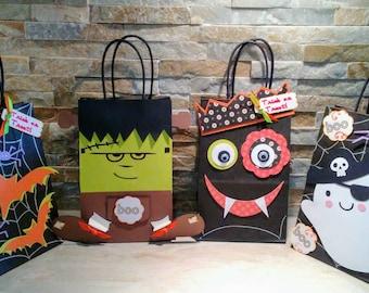 Halloween Goody Bags set of 12/ Favor Bags