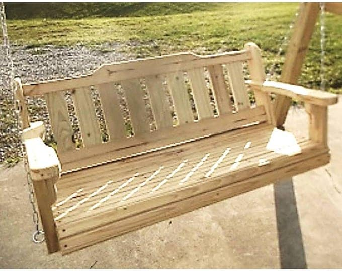 4' Porch Swing Treated Pine Wood