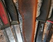 "Buffalo Leather Knife Sheath - Fits Mora knives, 4"" blades - Universal - Companion, Bushcraft"