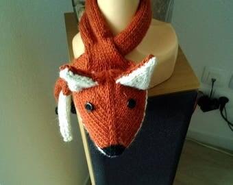 fox Fox hand knitted alpaca and wool scarf