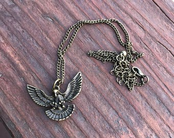 Bronze Flying Eagle Necklace