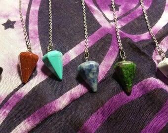 Pendulum, Crystal Pendulum, Stone Pendulum, Witch Heart Pendulum, Wiccan/Pagan Pendulum