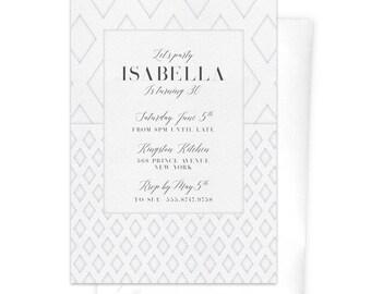 White invitations Etsy
