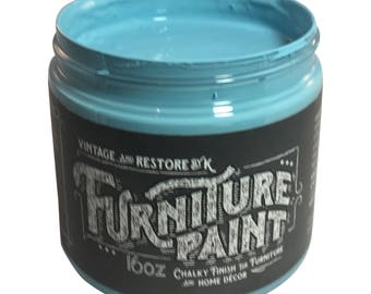 V&R By K Blue Chalk Paint, Painted Furniture, Shabby Chic, Paint Supplies, Home Decor, Furniture Project, Furniture Paint, Chalk Style Paint