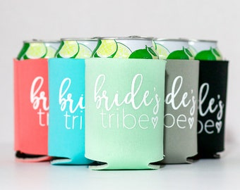 Bride Tribe Can Coolers | Bachelorette Party Beer Can Coolers | Bridesmaid Can Cooler | Bride Can Cooler | Brides Tribe