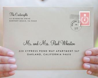 custom envelopes labels place cards and by. Black Bedroom Furniture Sets. Home Design Ideas