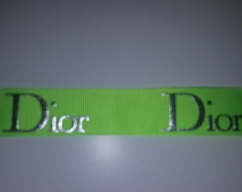 Ribbon dior green neon 22mm the meter
