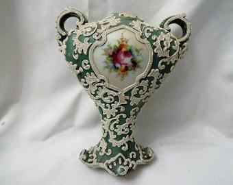 Bisque / Porcelain overlayed vase