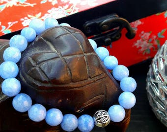 bracelet pour homme en pierres fines - marron