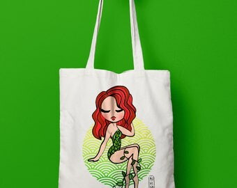 Tote Bag Poison Ivy, Poison Ivy tote bag, DC Comics, Poison Ivy, gifts for women, hipster tote bag,  tote bags, ethically made
