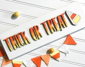 Halloween, halloween sign, skeleton, trick or treat, laser cut, handpainted, wood sign, halloween decor, bat, ombre, pumpkin, ghost, lantern
