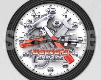 Man Cave Garage Clocks : Let s see your cool garage pictures porcelain signs posters