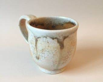 Wood fired porcelain mug