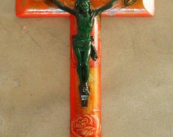 Croix chrétienne Objet d'art religieux artistique Pop Art Crucifix Cross