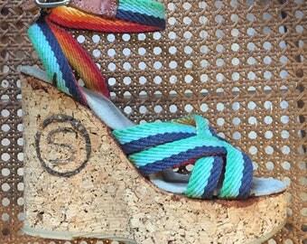 Vintage Cork Platform Sandals