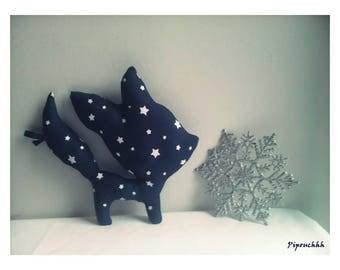 Decoration / toy Fox Navy stars