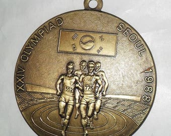 Olympic medal-Seoul 1988-70 mm/90 G-brass-replica-collector's production-vintage collector item