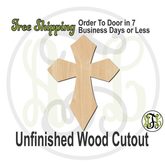 """Cross 4- 2"""" to 6"""" Minis- 290035- Small Wood Cutout, unfinished, wood cutout, wood craft, laser cut, wood cut out, ornament"""