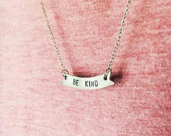 Be Kind Pewter Necklace