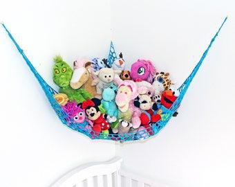 Kids Room Storage  - Kids Room Organizer - Stuffed Animal Storage - Toy Net - Kids Toy Bag - Toy Hammock - Kids Toy Storage