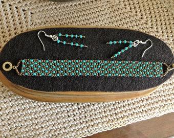 Handcrafted one of a kind design beaded bracelet