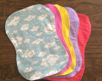 Flannel Baby Burp Cloths - Pick 5 Pack
