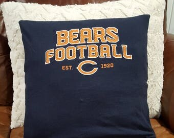 Chicago Bears Football Pillow Cover