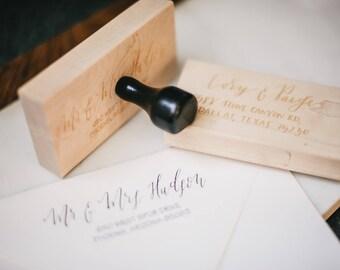 Address Stamp, Return Address Stamp, Custom Wedding Stamp, Christmas Cards