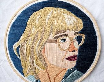Custom made-1 person embroidered portrait