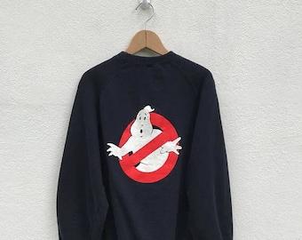 20% OFF Vintage Ghostbusters Black Sweathsirt Movie Promo / Ghostbusters Crewneck / Movie Sweater