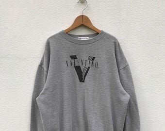 20% OFF Vintage Valentino Sweatshirt/Valentino Sweter/Valentino Big Logo/Valentino Pullover/Crewneck