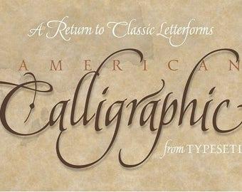 American Calligraphic Digital Font - Instant Download