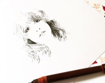 Pale Shadow of a Woman / Stevie Nicks Portrait / Fleetwood Mac Artwork