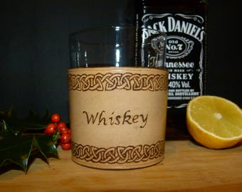 Hand Engraved Whiskey Glass Covers **Personalised**