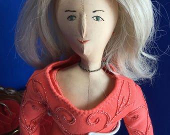 Handmade Cloth Doll Elizabeth