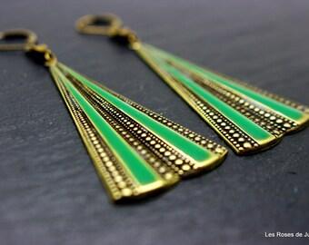 Art deco earrings, art deco Penelope earrings