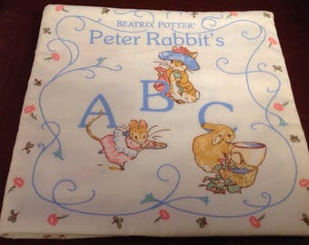 Vintage Beatrix Potter Peter Rabbit ABC soft book  cloth book finished in 1993