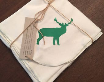 Elk Organic Cotton Baby Super Soft Jersey Swaddle Receiving Blanket Screen Printed