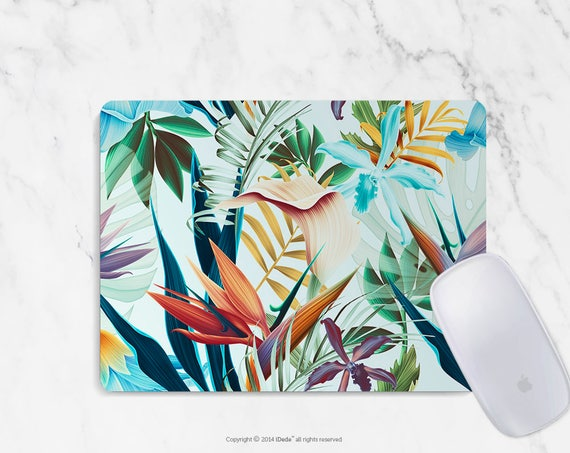 Floral Mousepad Round Mousepad Rectangle Mouse pad Beautiful Design Floral Mouse pad Cute gift Mousepad 31