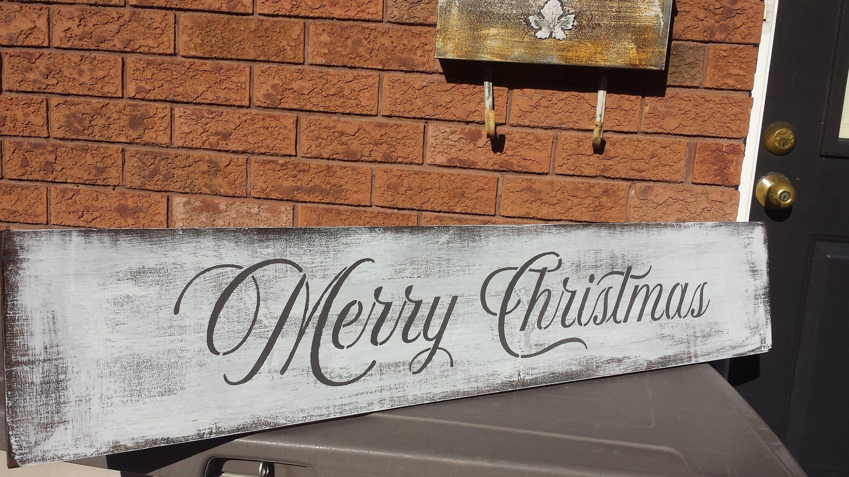 4 ft long merry christmas signmantle decorholiday entrance signbuffet