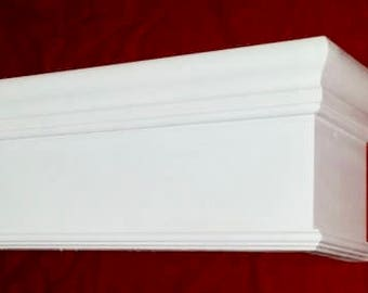 "Wood Cornice Window Valance  *8"" HIGH MODEL*  100% Solid Pennsylvania Hardwood Custom Built To Any Size"