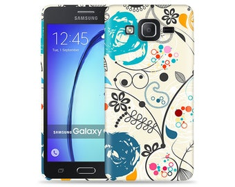 For Samsung Galaxy On5 Case - On 5 Case - SM-G5500 Case ##Paisley Artwork Cool Design Hard Phone Case