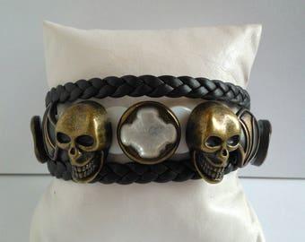 Men's SKULL, men Skull bracelet
