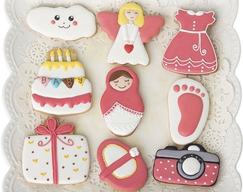 Baby Shower Cookie Cutters/Angel Biscuit Cutters/Baby Cookie Molds/Dough Cutters/Fondant Tools/Baking Supply/Theme Party