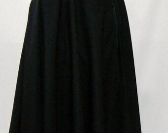 Medieval Cloak,Halloween Cloak,Cosplay Cloak,poly wool blend cloak,Full circle cloak,black cloak,hooded cloak,cloak with hood@sohoskirts