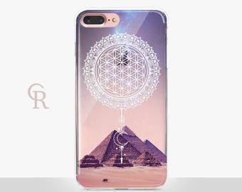 Spiritual Egypt iPhone X Clear Case- Clear Case - For iPhone 8 - iPhone X - iPhone 7 Plus - iPhone 6 - iPhone 6S - iPhone SE Transparent