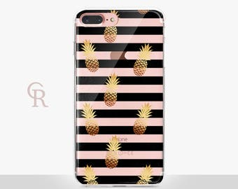 Pineapple Clear Phone Case For iPhone 8 iPhone 8 Plus iPhone X Phone 7 Plus iPhone 6 iPhone 6S  iPhone SE Samsung S8 iPhone 5 Transparent