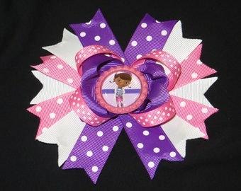 Doc McStuffin boutique hair bow