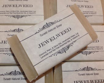 Jewelweed Natural Homemade Soap, Handmade soap, Natural Soap, Cold Process Lye Soap